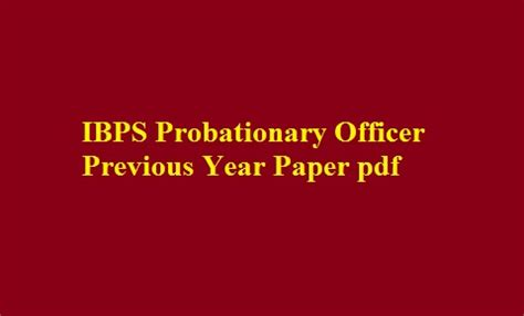 paper pattern ibps po 2015 ibps po previous year paper 2012 2013 2014 2015 2016