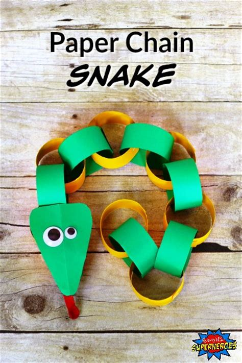 How To Make A Paper Snake - how to make a paper chain snake