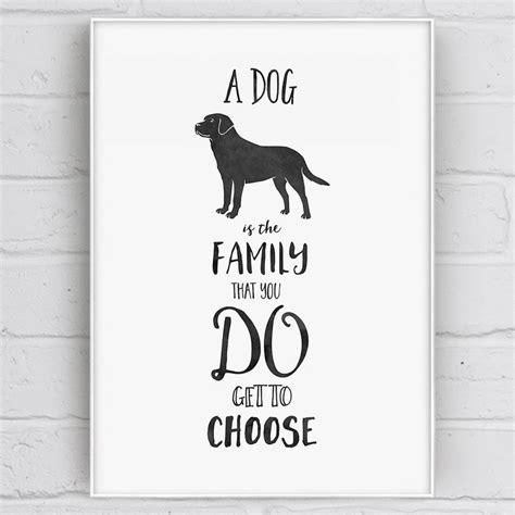 printable dog quotes a dog is family quote print by well bred design