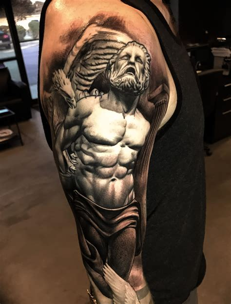prometheus tattoo prometheus bound by tye harris faces in the