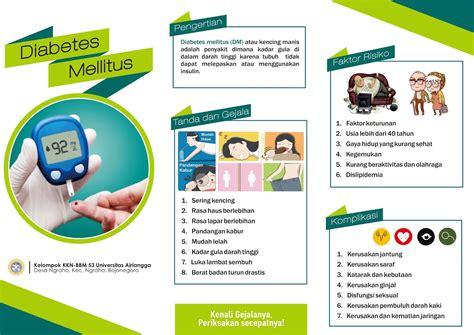 design leaflet kesehatan contoh leaflet dan ppt penyuluhan diabetes mellitus