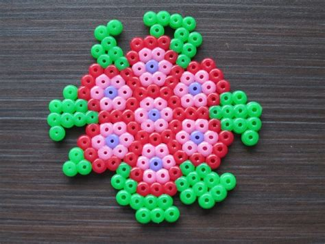 perler bead flower pin perler bead flower by arilitiajpg on