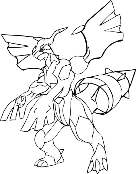 pokemon coloring pages black and white zekrom zekrom line art by thunder808 backup on deviantart