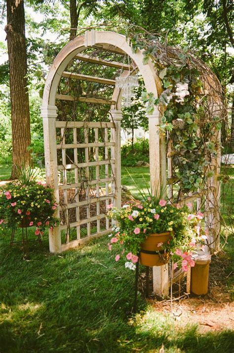 Garden Arbor Rental Beauteous Backyard Wedding