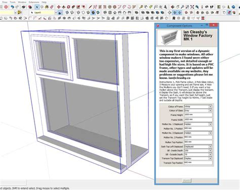 sketchup layout components sketchup dynamic window free uk ian cleasby drafting