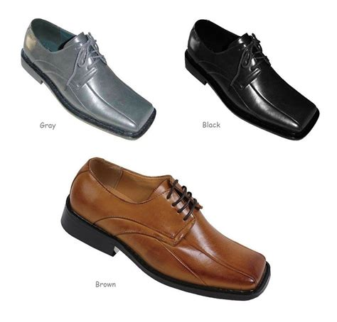 Sandal Casual Formal Prodigo Reog Original Made s dress shoes made leather w square toe a3391 black brown gray ebay