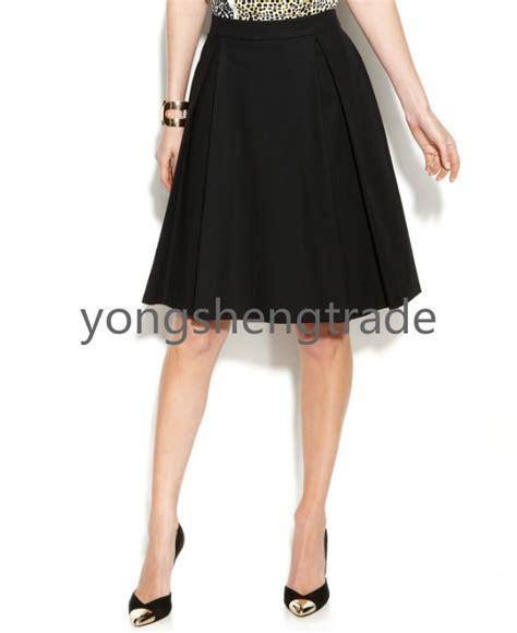 brand pleated a line skirt skirt suit black skirt custom