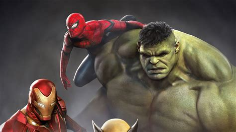 iron man hulk spiderman wolverine hd