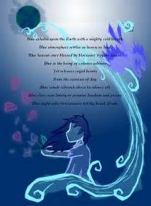 poems about the color blue color poem blue by silvrang on deviantart