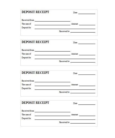 pet deposit receipt template deposit receipt record
