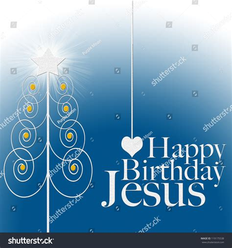 happy birthday jesus card template happy birthday jesus card stock illustration