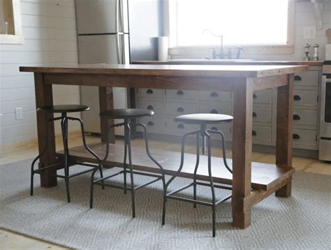 rustic kitchen island table etikaprojects com do it yourself project