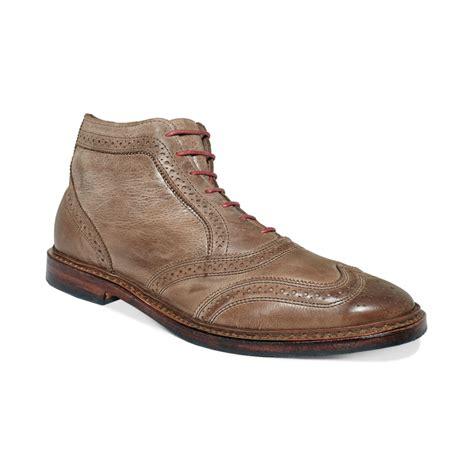 wing tip boots allen edmonds cronmok wingtip boots in beige for