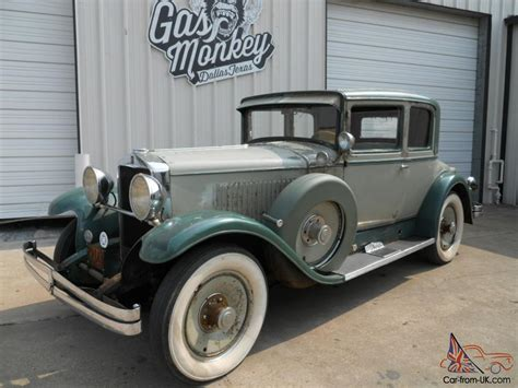 Gas Monkey Garage Cars For Sale by 1929 Hupmobile Series M Deluxe Centry Opera Coupe Offered