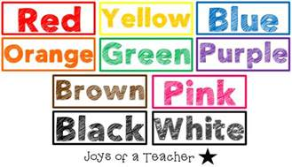 color words joys of a