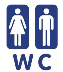 Bathroom Bin Toilet Wc Bathroom Lavatory Sign Symbol Mark 4 5x6 Inch