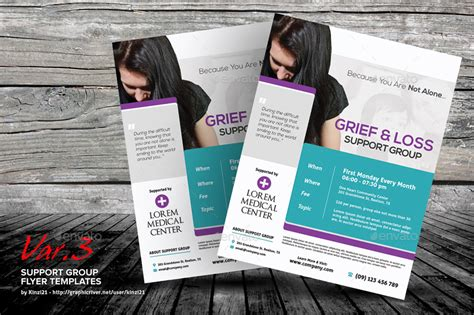 Support Group Flyer Template Free