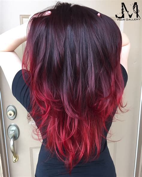 can i out an ombre into mybob hair color red hair purple hair ombr 233 jm hair gallery