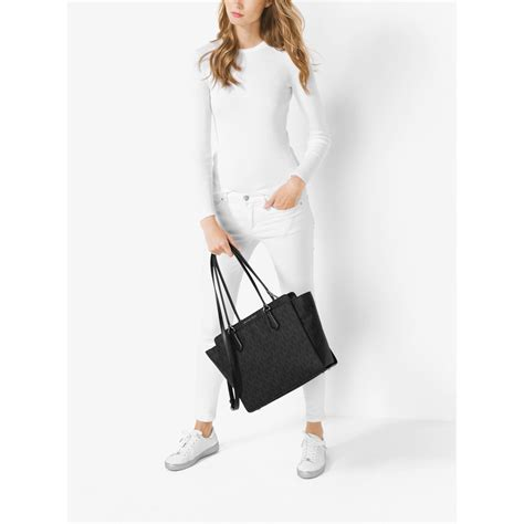 New Motif Michael Kors Specchio Shopping Tote 4in1 michael kors large convertible logo tote in black lyst