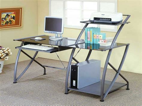 Office Depot Office Desk Office Furniture Computer Desks Metal And Glass Desk