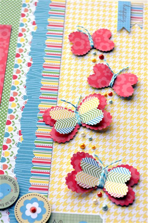 Paper Scraps Crafts - make butterflies from punches and folded paper