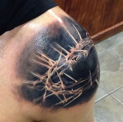 crown of thorns tattoo 60 heartwarming christian designs and ideas