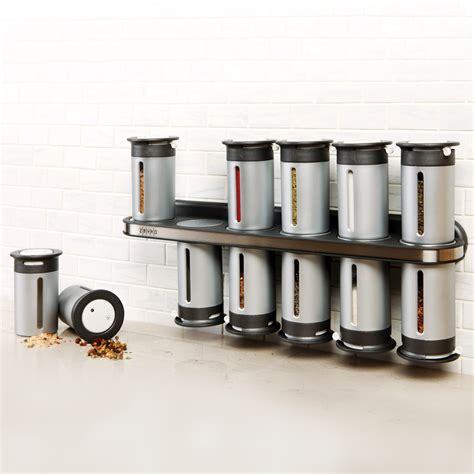 Spice Rack Modern by Zero Gravity Magnetic 12 Can Spice Rack Grey