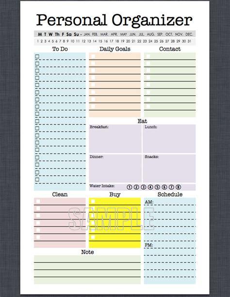 printable medical organizer mini personal organizer half letter size editable daily