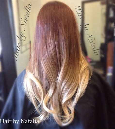 by natalia denver co vereinigte staaten balayage ombre hair color strawberry copper blond balayage ombre highlights for