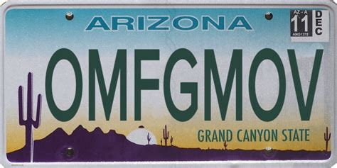 Arizona Vanity Plate by Banned Arizona License Plates 100 Rejected Plates Gallery