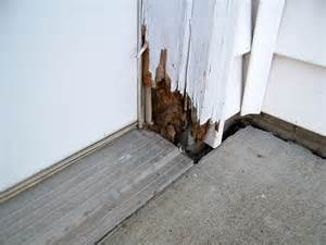 Patio Door Frame Repair Exterior Door Frame Repair At Rotted Door Frame Termites House Design