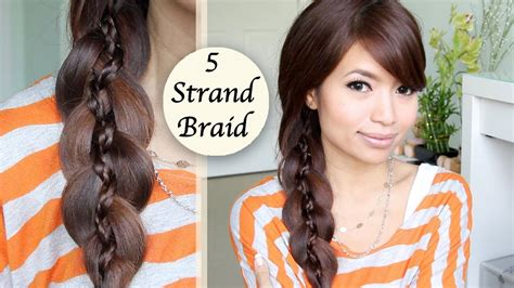 braided hairstyles tutorials youtube unique 5 strand braid braid in braid hairstyle hair
