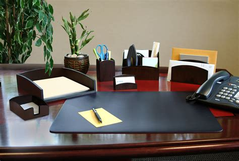 Artistic Leather Office Desk Accessories More Creative Desk Office Accessories