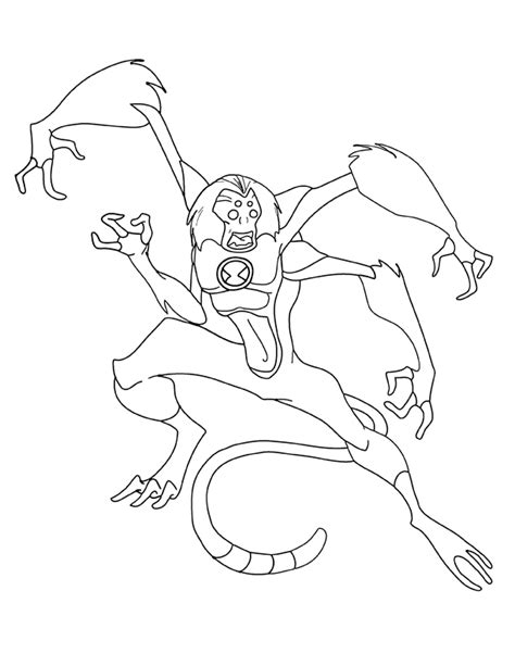 ben 10 coloring pages spider monkey ben 10 spider monkey coloring page coloring pages