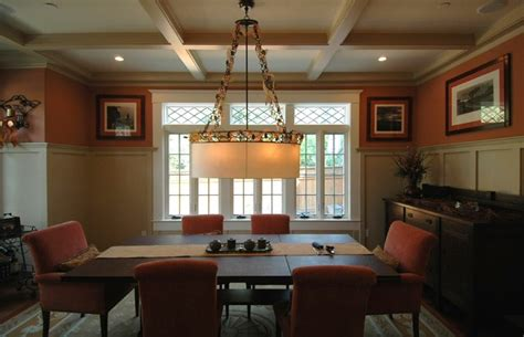 craftsman style in burlingame dining room