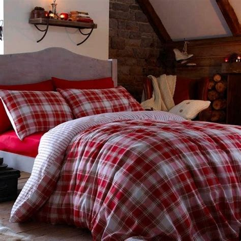 tartan bedding catherine lansfield quot tartan quot duvet set in red checked