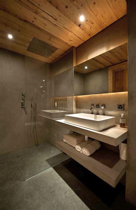 vanity badezimmer wood bathroom with floating marble vanity