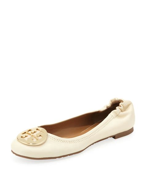 Trend Report Burch Reva Flats Are Going To Be This Second City Style Fashion by Burch Reva Logo Ballerina Flat Vanilla In Beige