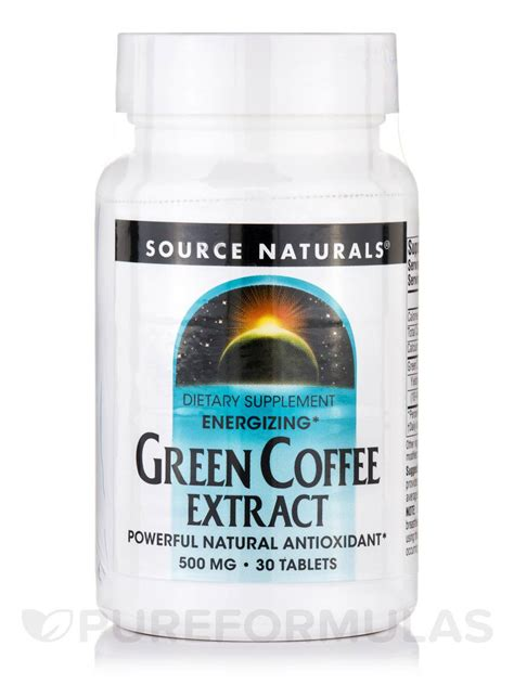 Green Coffee Extract energizing green coffee extract 500 mg 30 tablets