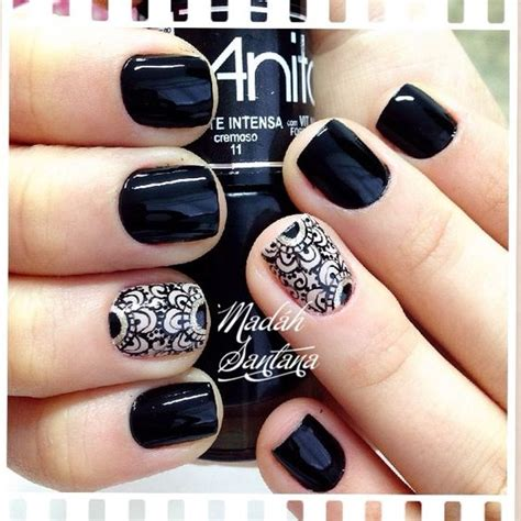 imagenes uñas decoradas en blanco y negro 17 fotos e modelos de unhas decoradas preta