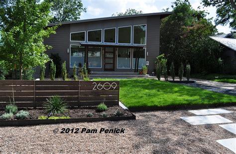 modern front yards drive by gardens rockin alternative lawns in