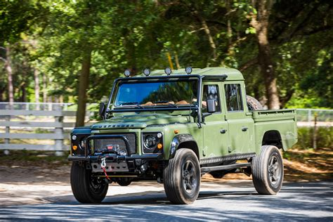 land rover 130 this corvette powered land rover defender 130 pickup is