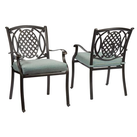 Patio Dining Chairs With Cushions Hton Bay Lemon Grove Stationary Wicker Outdoor Dining Chair With Surplus Cushion 2 Pack