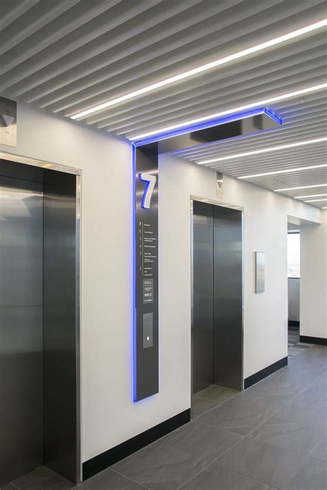elevator lobby vertical directory wayfinding design