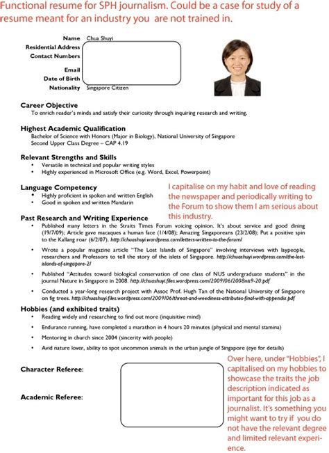 Resume Template Singapore Ntu how to write resume singapore resume ideas