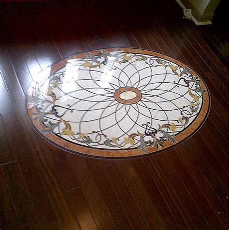 Medallion Wood Floors by Wood Floor Inlays Borders Design Mr Floor Chicago Il