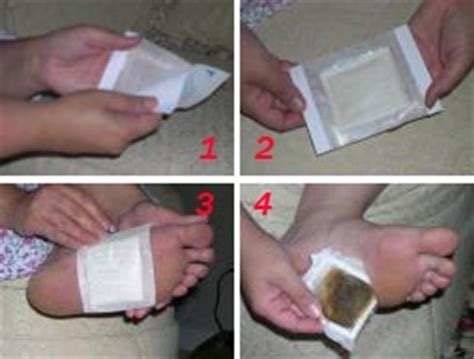 What S The Black From Foot Detox by Foot Detox How To Apply Kinoki Foot Pads