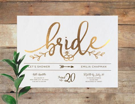 Bridal Invitations by Emilia Bridal Printable Bridal Shower Invitation Shower