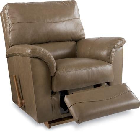 la z boy reese recliner reese leather reclina rocker by la z boy furniture
