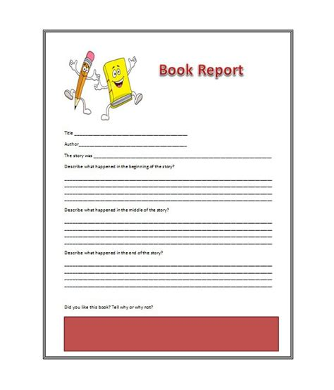 book report story 30 book report templates reading worksheets